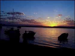 Sunset or Dusk on Beach